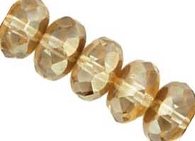 Czech Glass Fire Polished beads 11/7mm Roundel x1 Crystal Celsian