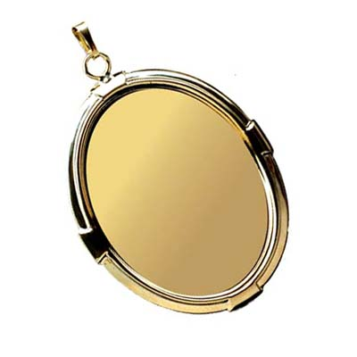 Gold Plated 40x30mm Oval Cameo Cabochon Pendant Setting x1