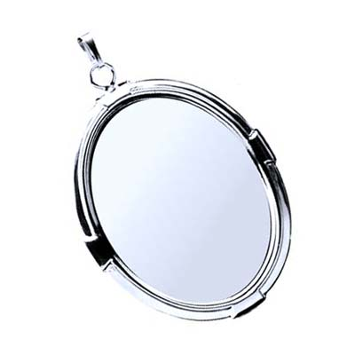 Silver Plated 40x30mm Oval Cameo Cabochon Pendant Setting x1