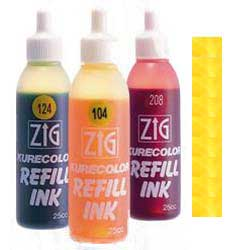 Yellow 106 ZIG Kurecolor Alcohol Ink by Kuretake  - 25ml Bottle