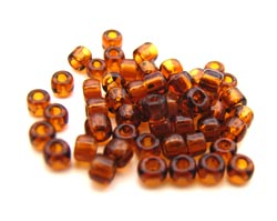 Matsuno - Japanese Glass Seed Beads - 11/0 - 10g Transparent Dark Topaz
