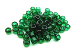 Matsuno - Japanese Glass Seed Beads - 11/0 - 10g Transparent Emerald Green