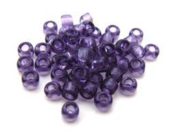 Matsuno - Japanese Glass Seed Beads - 11/0 - 10g Transparent Dark Amethyst