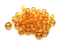 Matsuno - Japanese Glass Seed Beads - 11/0 - 10g Transparent Amber
