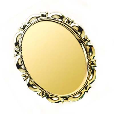 Gold Plated 40x30mm Oval Cameo Cabochon Fancy 50.5x40mm Brooch Setting x1