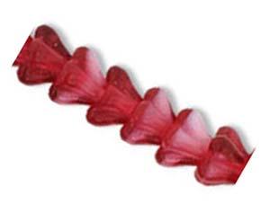 Czech Glass Baby Bell Flower Beads 6x4mm Pearl Fuchsia x50