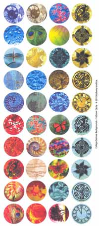 IT Collage Sheet - Pre-Printed Images Circles 18.5mm