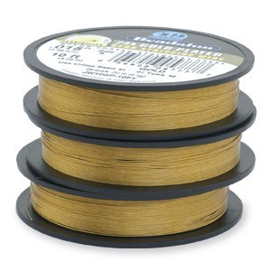 Beadalon Stringing Wire 19 Strands .012 (.30mm) 15 ft/4.6m 24kt Gold Plated
