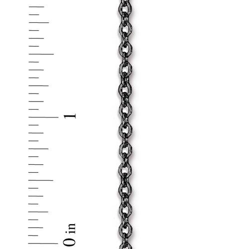 TierraCast Brass Cable Chain 4x2.5mm Black per Half Foot