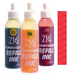 Red 218 ZIG Kurecolor Alcohol Ink by Kuretake - 25ml Bottle