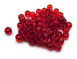 Matsuno - Japanese Glass Seed Beads - 11/0 - 10g Transparent Ruby Red