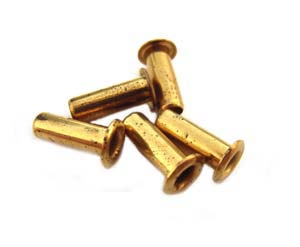 1/8 inch Brass Eyelets 9.5x3mm (x5 pc)