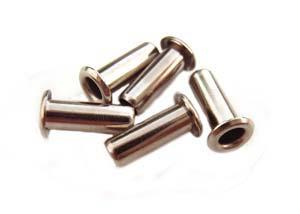 1/8 inch Silver Tone Eyelets (9.5x3mm) x5pc