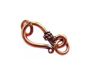 Antique Bali Style Pure 100% COPPER 19x9mm Hook & Eye Clasp