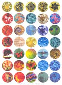 IT Collage Sheet - Pre-Printed Images Circles 25mm