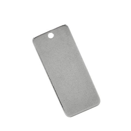 Stainless Steel Rectangle Tag 21x9mm 19g Stamping Blank x1