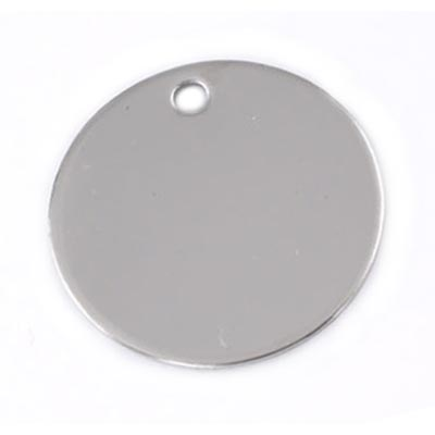 Stainless Steel Circle 30mm 16g Stamping Blank x1