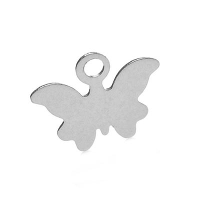 Stainless Steel Butterfly 10x7.5mm 28g Stamping Blank Charms x1