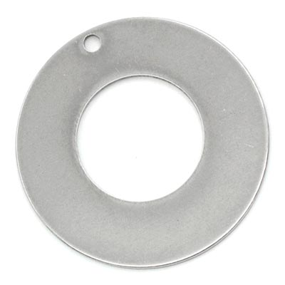 Stainless Steel Washer 30.1mm od 10mm id 19g Stamping Blank x1