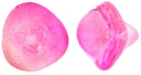 Czech Glass Three Petal Flower Beads 10x11mm Coated Hot Pink x5