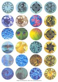 Collage Sheet - Pre-Printed Images Circles 30mm