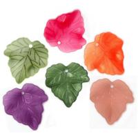 Lucite Leaves 24x22.5x3mm Maple / Vine Leaf Frosted Bead 15.5g Choose Colours