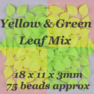 Lucite Leaves 18x11x3mm Leaf Frosted Bead 11g Choose Colours