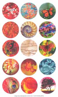 Collage Sheet - Pre-Printed Images Circles 35mm