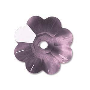 Swarovski Crystal Beads 6mm Margarita Flower - Amethyst x1