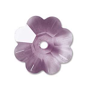 Swarovski Crystal Beads 8mm Margarita Flower - Amethyst Light x1