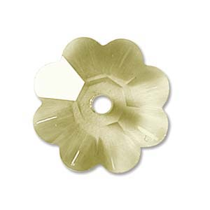 Swarovski Crystal Beads 8mm Margarita Flower - Jonquil x1