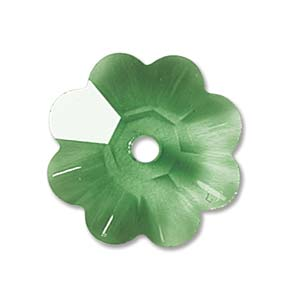 Swarovski Crystal Beads 10mm Margarita Flower - Peridot x1