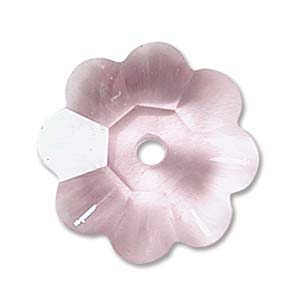 Swarovski Crystal Beads 6mm Margarita Flower - Light Rose x1