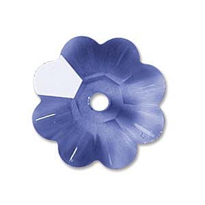 Swarovski Crystal Beads 6mm Margarita Flower - Sapphire x1