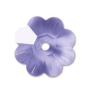 Swarovski Crystal Beads 6mm Margarita Flower - Tanzanite x1