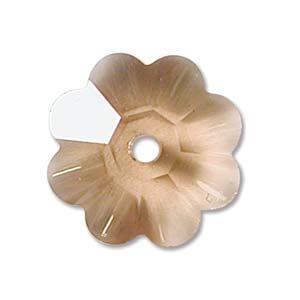 Swarovski Crystal Beads 8mm Margarita Flower - Colorado Topaz Light x1