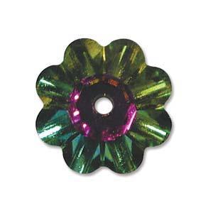 Swarovski Crystal Beads 6mm Margarita Flower - Medium Vitrail x1