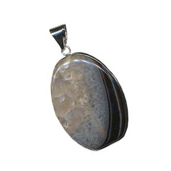 Druzzy Quartz Pendant 40x30mm