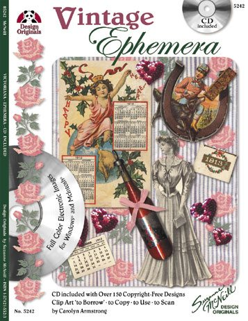 Vintage Ephemera - Design Originals Book with CD
