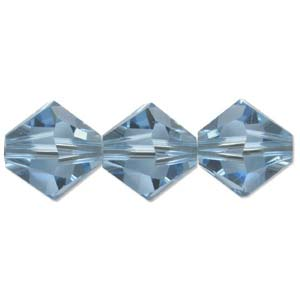 Swarovski Crystal Beads Bicone 6mm Aquamarine