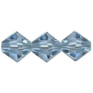 Swarovski Crystal Beads Bicone 6mm Aquamarine