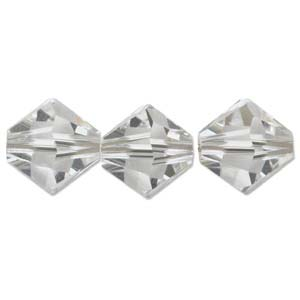 Swarovski Crystal Beads Bicone 6mm Crystal Clear