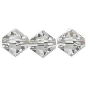 Swarovski Crystal Beads Bicone 6mm Crystal Clear