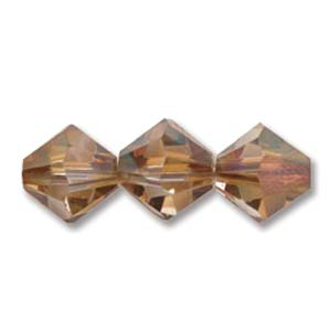Swarovski Crystal Beads Bicone 6mm Crystal Copper