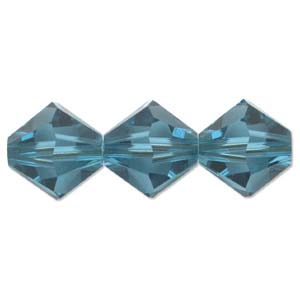 Swarovski Crystal Beads Bicone 6mm Indicolite