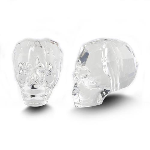 Swarovski Crystal 19mm Skull Beads - Crystal x1