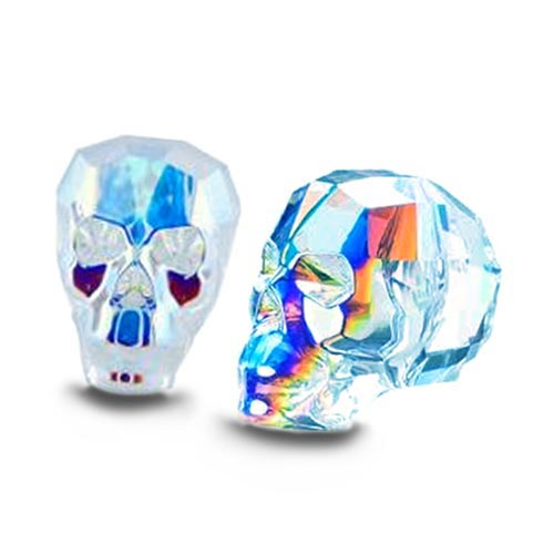 Swarovski Crystal 13mm Skull Beads - Crystal AB x1