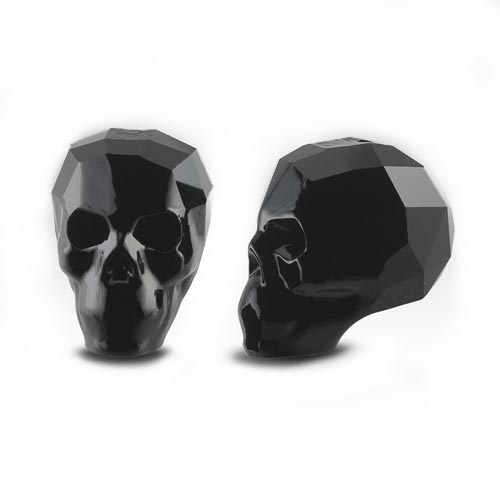 Swarovski Crystal 13mm Skull Beads - Jet x1