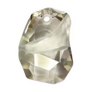 Swarovski Crystal Pendants Divine Rock - Top Drilled 27mm Crystal Silver Shade