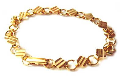 Gold Plated Bracelet with 6mm Pad Settings for Cabochons x1